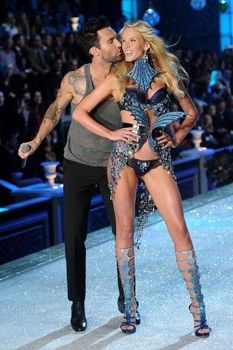 Adam Levine and Anne Vyalitsyna in 2011.