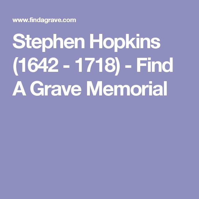 Stephen Hopkins (1642 - 1718) - Find A Grave Memorial