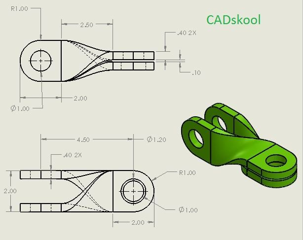 Pin By Cadskool On Creo Parametric Modeling Practice Mechanical Design Parametric Youtube Drawing