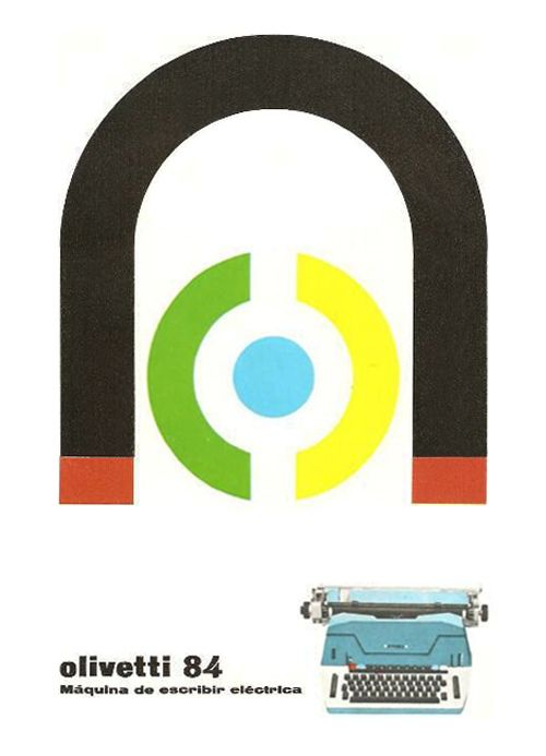 Olivetti 84 Advertising  designed by Giovanni Pintori - 1964