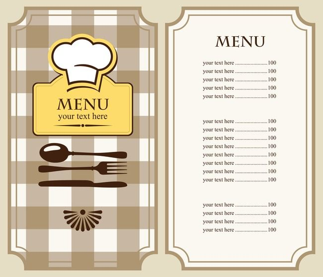 Vector Menu Design Hotel Menu Clipart Hotel Recipes Hotels Menu Png Transparent Clipart Image And Psd File For Free Download Restaurant Menu Template Menu Design Template Free Menu Templates