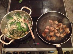 Jamie Oliver's 15 minute meals Swedish meatballs and ceriac rice s1 episode 11