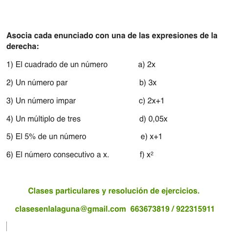 Ejercicio propuesto 3 de Expresiones Algebraicas.