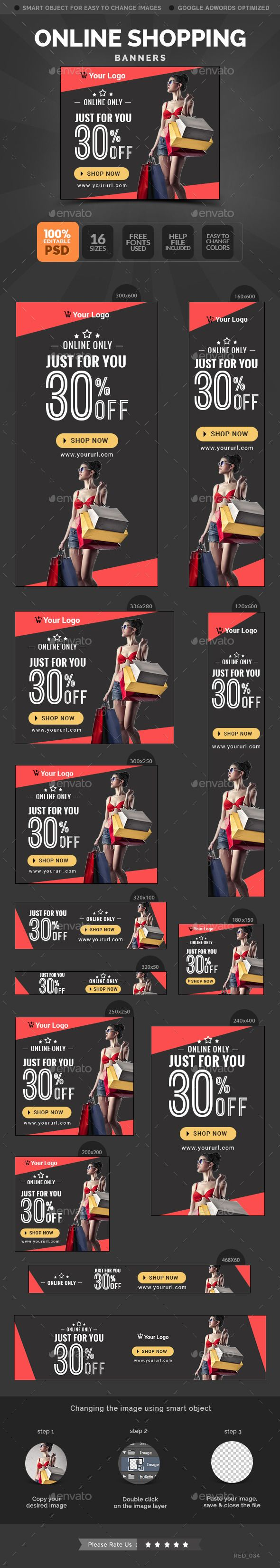 Online Shopping Banners Template  Download: http://graphicriver.net/item/online-shopping-banners/10786389?ref=ksioks