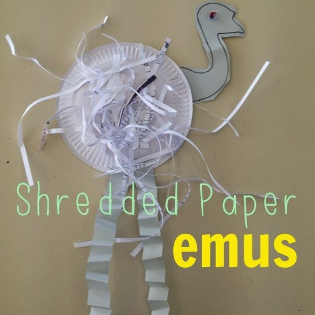 Create a paper plate emu with your child. Together you can put all of the body parts on your emu. A child aged 24-30 months should be able to point to six body parts.