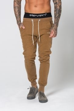 Illusive London - Sand Blast Joggers – Brown | Simple and stylish with a hint of urban edge - cassic Illusive London. Shop all of the brand's new lines now@ Urban Celebrity!