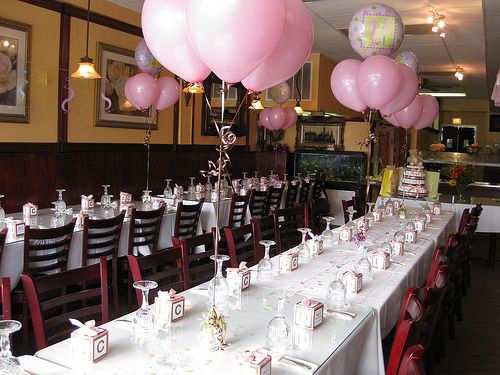 What a fabulous restaurant baby shower idea baby ludwick for Baby shower hall decoration