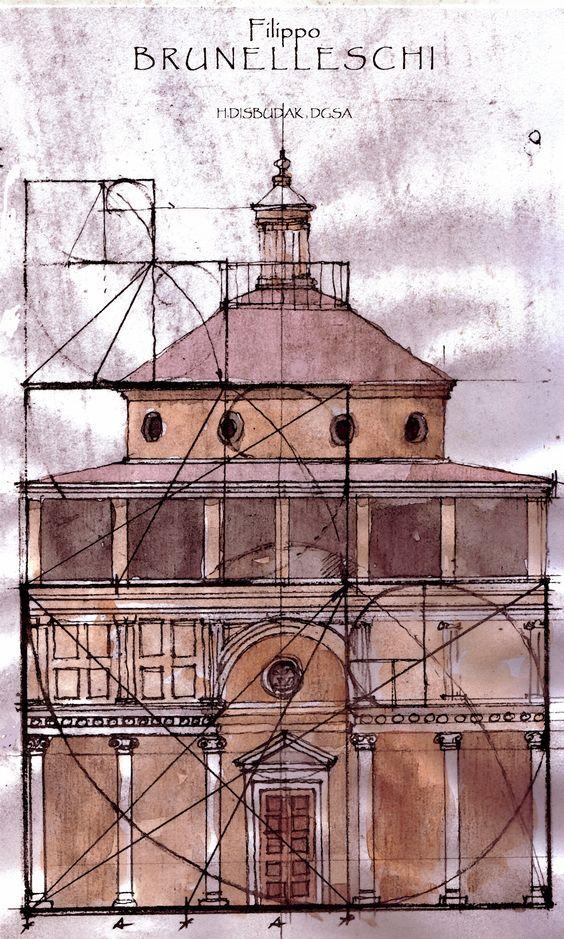 Golden Rule. Filippo Brunelleschi - Pazzi Chapel, Florence (Santa Croce):
