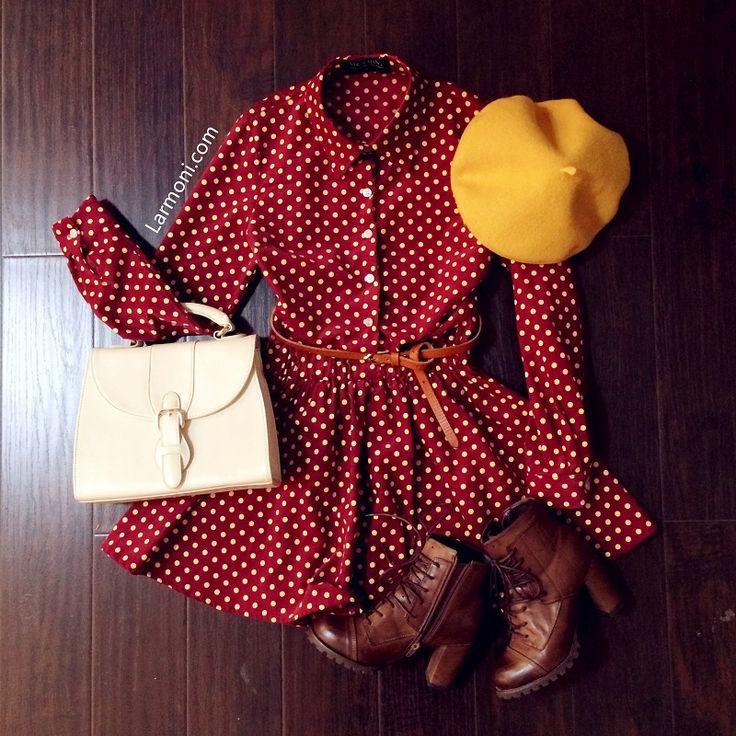 Polka Dots High Waist Dress