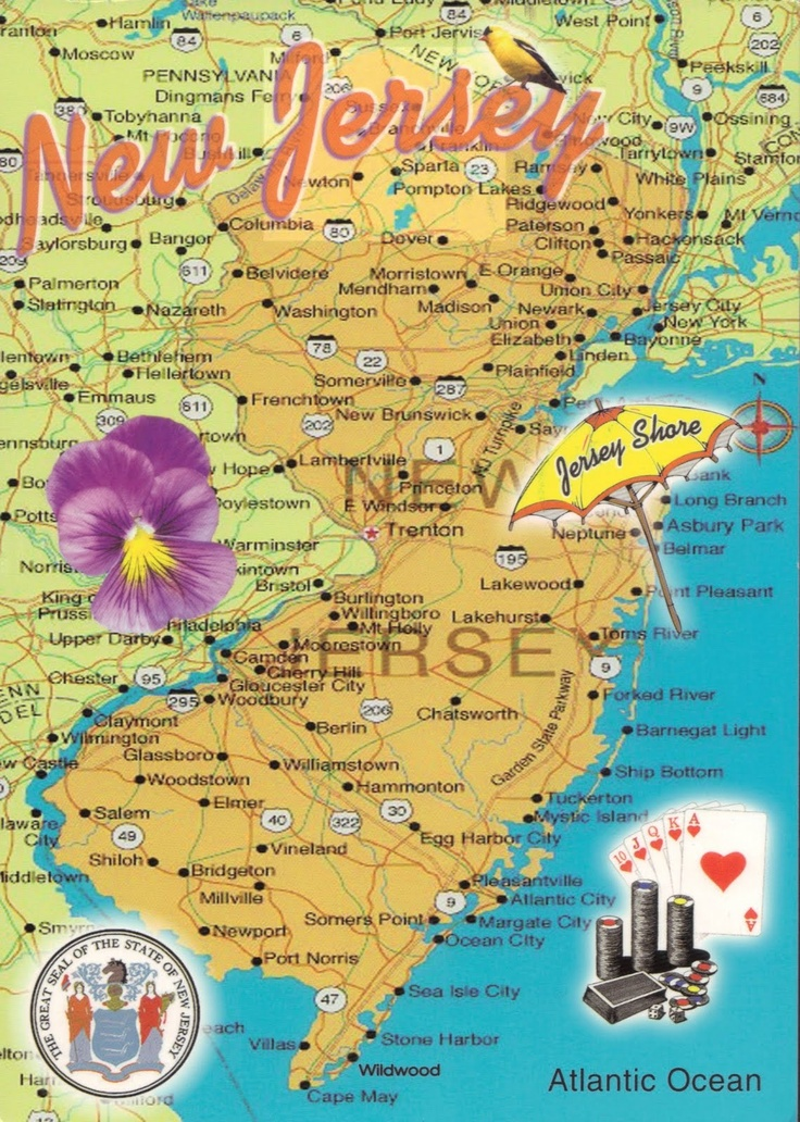 Best NJ Maps Images On Pinterest Jersey Girl New Jersey And - Nj maps