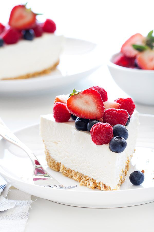 No Bake Frozen Cheesecake is the perfect way to beat the heat! Creamy cheesecake combines with a sweet and salty crust to create dessert perfection.