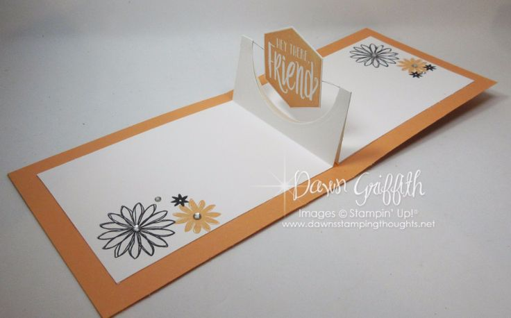 Happy Day Spinner card inside Peekaboo Peach Dawn Griffith Stampin up demonstrator