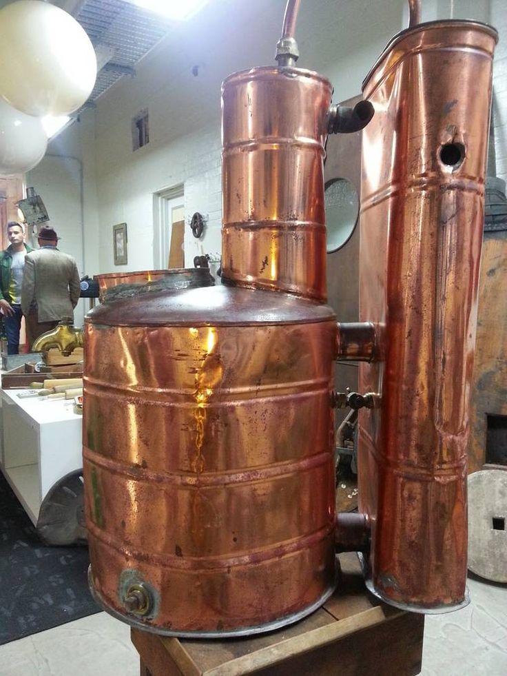 Industrial Vintage Old Copper Moonshine Still | Copper ...
