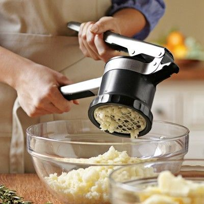LOVE, LOVE, LOVE this!!! And you don't have to peel your potatoes!!!OXO Adjustable Potato Ricer #WilliamsSonoma