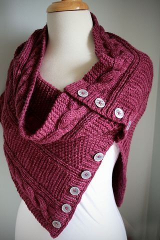 """Depending on the buttons, this could be really special. """"Knitted Cowl"""""""