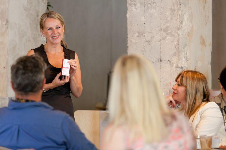 Corinne presenting at the Australian Rosehip Oil Antioxidant+ launch
