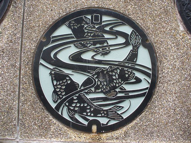Ojiya city, Nigata pref manhole cover(新潟県小千谷市のマンホール) by MRSY, via Flickr