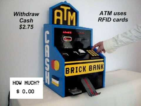 A practical ATM that works like a real deal. Isn't it cute?