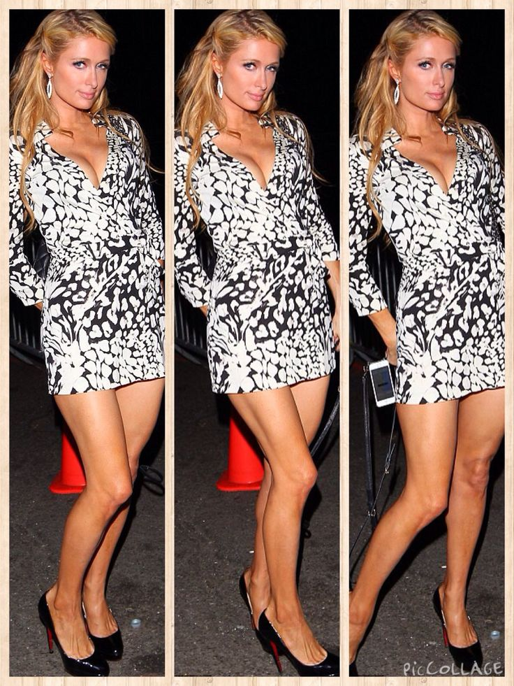 Paris Hilton and Kim Kardashian practically grew up together - their mothers Kris Jenner and Kathy Hilton are best friends - so it's no wonder they are taking style points from each other even now after a falling out.  On Sunday evening the 33-year-old DJ pulled a Mrs Kanye West by showing off her decolletage in a plunging black-and-white dress at the Diane Von Furstenberg Fashion Week after party in New York City.