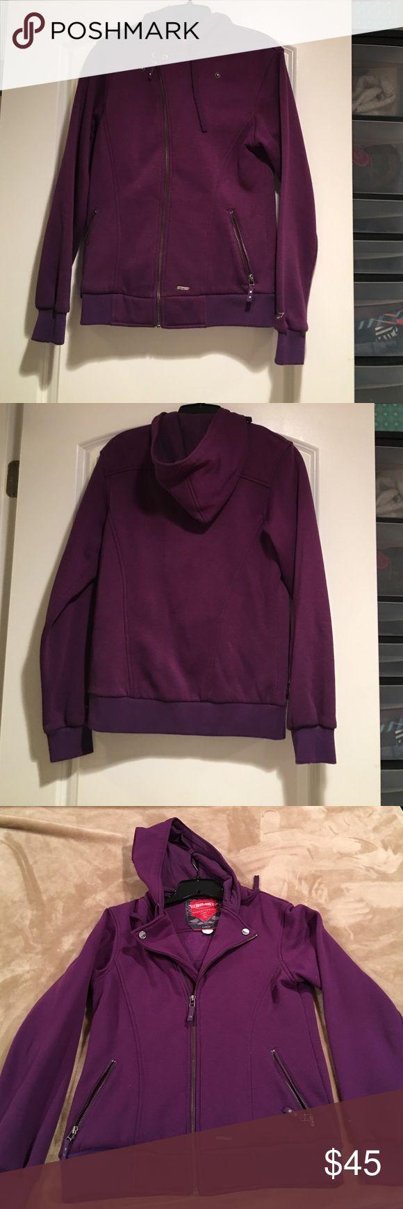 Purple hoodie zip is sweatshirt SIMS Snowboarding brand zip up hooded sweatshirt.  Size large.  Purple, plum color.  Good used condition. Very thick! Sims Snowboarding Tops Sweatshirts & Hoodies