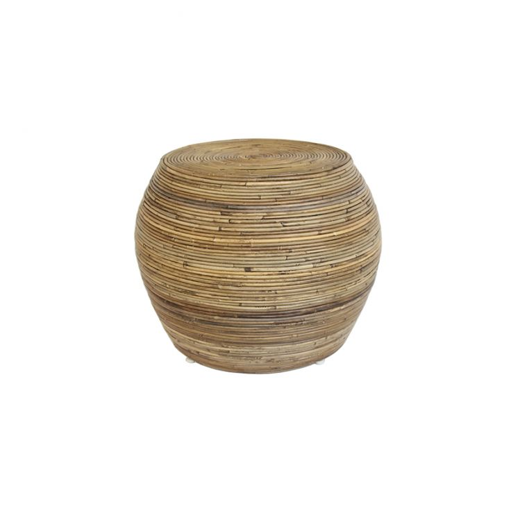 Coricraft - The Bindi stool combines a beautiful, nature-inspired design made from woven Malaysian bamboo with a sturdy, generous shape. Enjoy this statement piece in your classic or modern styled living room.