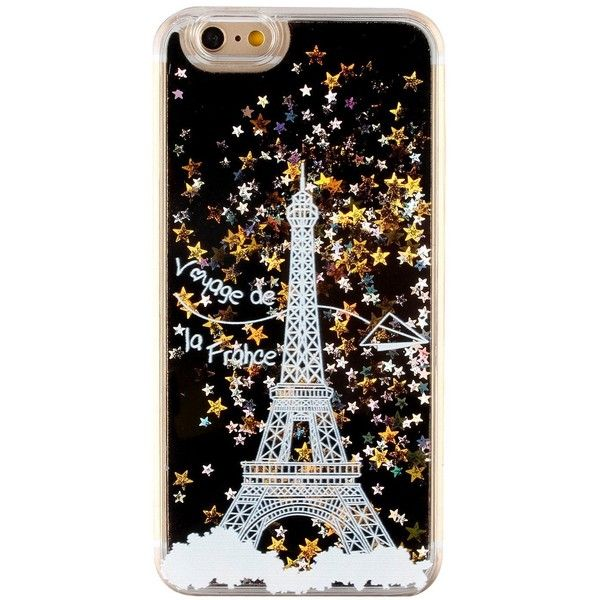 iPhone 6S plus Case Aeeque White Paris Eiffel Tower Motif 3D Flowing