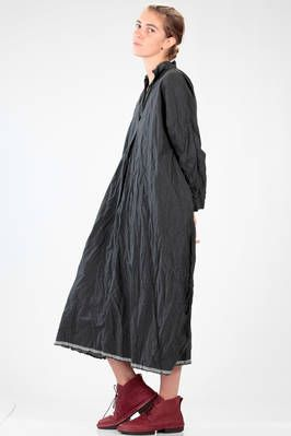 DANIELA GREGIS | long and wide dress in washed and wrinkled 'citizen' cotton | #danielagregis