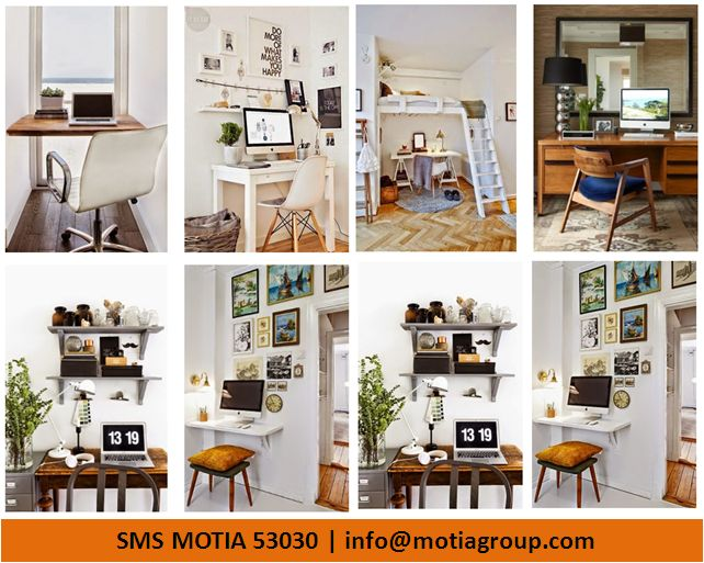 Smart Home Office Design Ideas with Small Spaces (