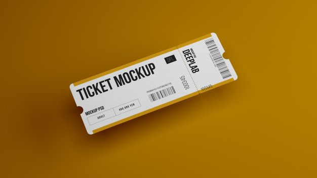 Download Ticket Mockup Freepik Yellowimages