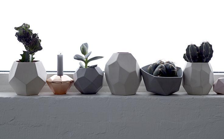 Geometric vases by Bloomingville