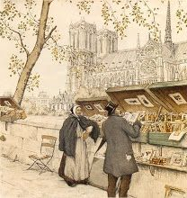 Buying art by the Seine, Anton Pieck