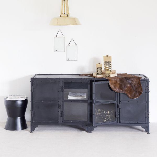 Industrie Design TV Möbel Metall schwarz      Auswahl:  1 x Industrie Design TV…