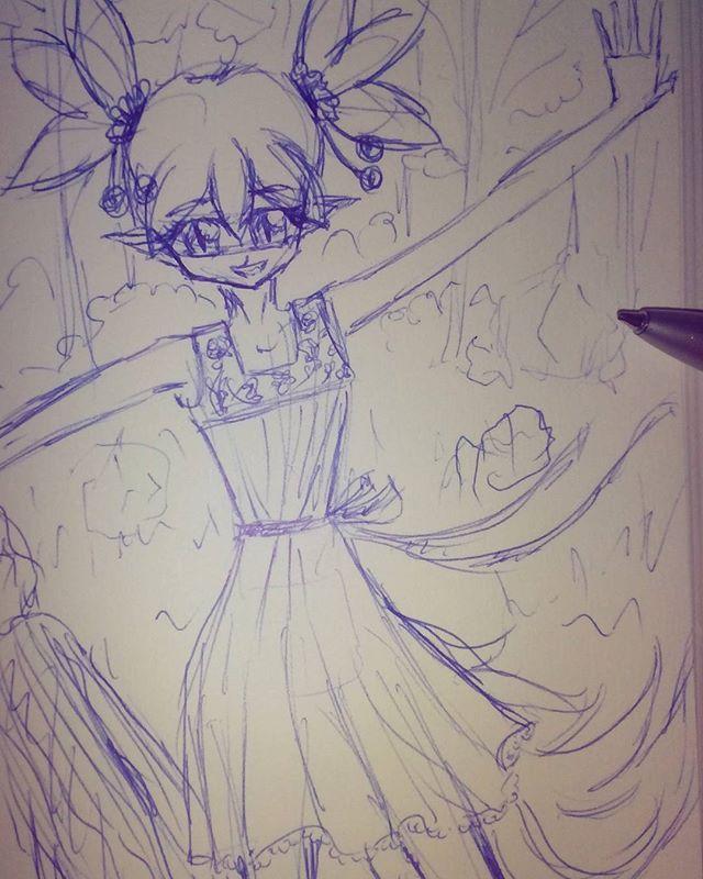 Kleiner Fuchs  Schnelle Kugelschreiberskizze  Ob ichs irgendwann noch schaffe ein richtiges Bild hier reinzustellen xD hoffe habe bald mehr Zeit zum Zeichnen und hoffe euch gefällts trotzdem ;) #fuchs #anime #manga #girl #mädchen #skizze #drawing #zeichnung #pen #kugelschreiber #fox #cutiepix #cutiepixdesign #cute #süß #süss #hair #dress #kleid