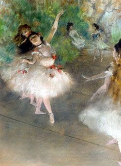 Degas and his studies of movement and human form. I went to an exhibit about it all in Boston.