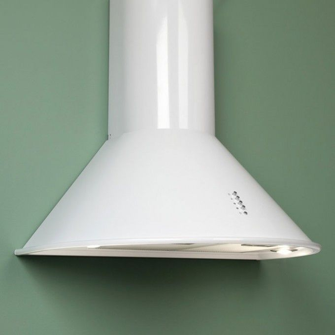 """White wall?  Pair it with a white range hood!  Blends right in and looks elegant.   Provence Series 36"""" Wall Mount Range Hood - 600 CFM - White Powder Coat"""