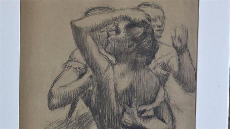 Francia restituyó un dibujo de Degas que había sido expropiado por los nazis  Trois danseuses á mi-corps, obra de Edgar Degas foto: AP Michel Euler