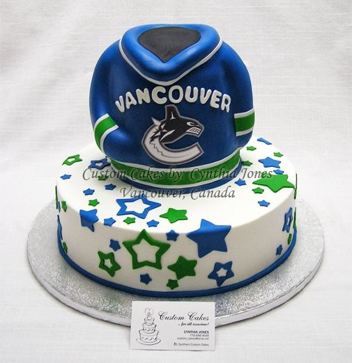 Canucks cake