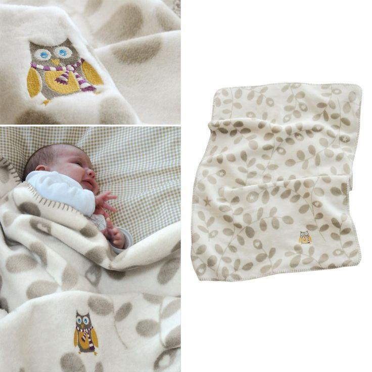 David Fussenegger Bamboo Blanket Leaf Owl Urbanbaby