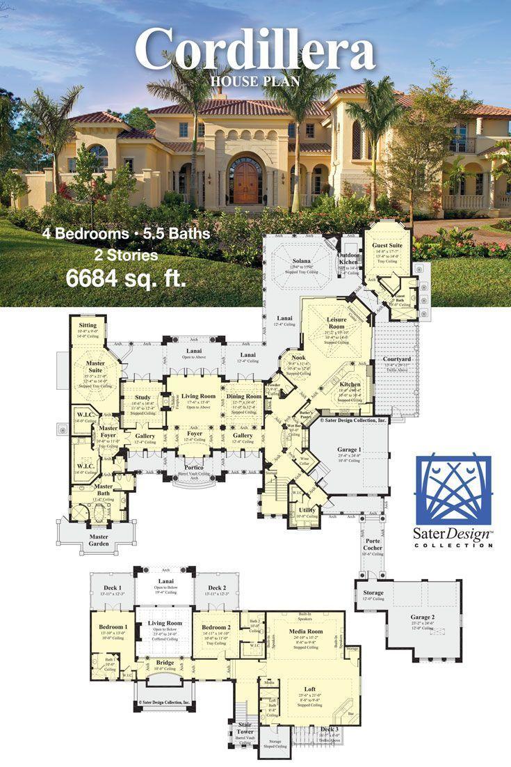 The Sater Design Collection the cordillera mediterranean house plan | sater design