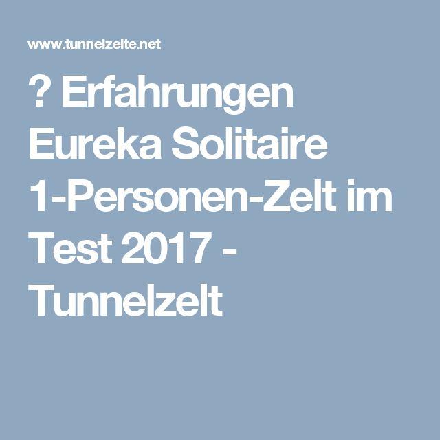 ᐅ Erfahrungen Eureka Solitaire 1-Personen-Zelt im Test 2017 - Tunnelzelt