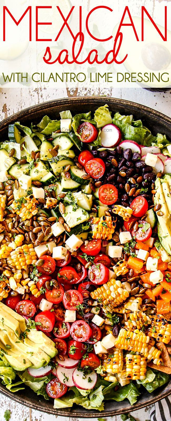 Found This On Pinterest In 2020 Mexican Salad Recipes Mexican Salads Main Dish Salads