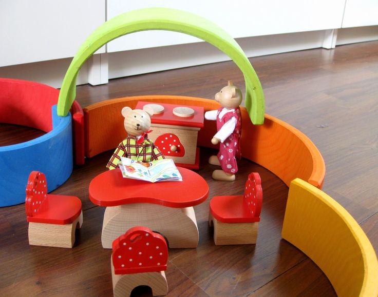 poppenkeuken van de houten regenboog