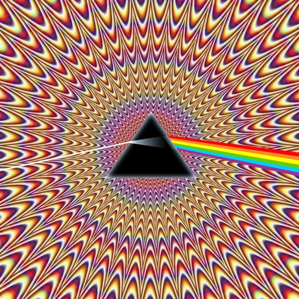 Pulsating Seizure Pink Floyd Illusion optical illusion
