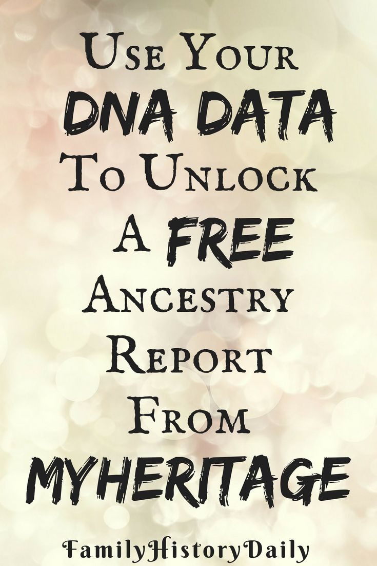 Take advantage of your genealogy DNA test results by uploading your raw data to MyHeritage. Recieve a free ancestry report and expand your family tree easily.