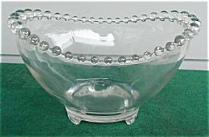 """Imperial Candlewick 8 1/2"""" 3-Toe Bowl"""