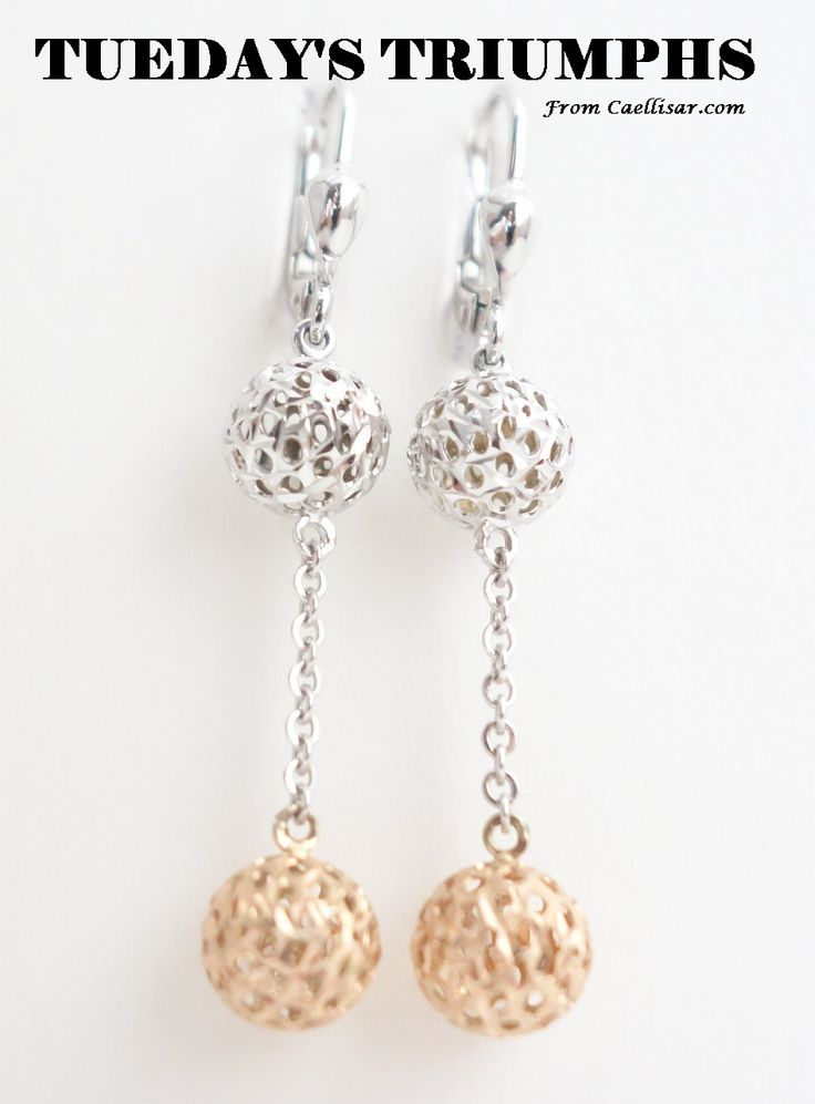 * Our best seller this week are these 10k White and Rose Gold Earrings From Italy.