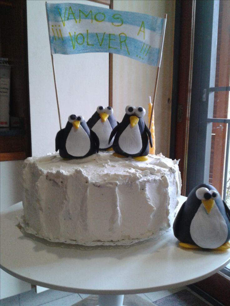 Torta pingüinos Penguin Cake