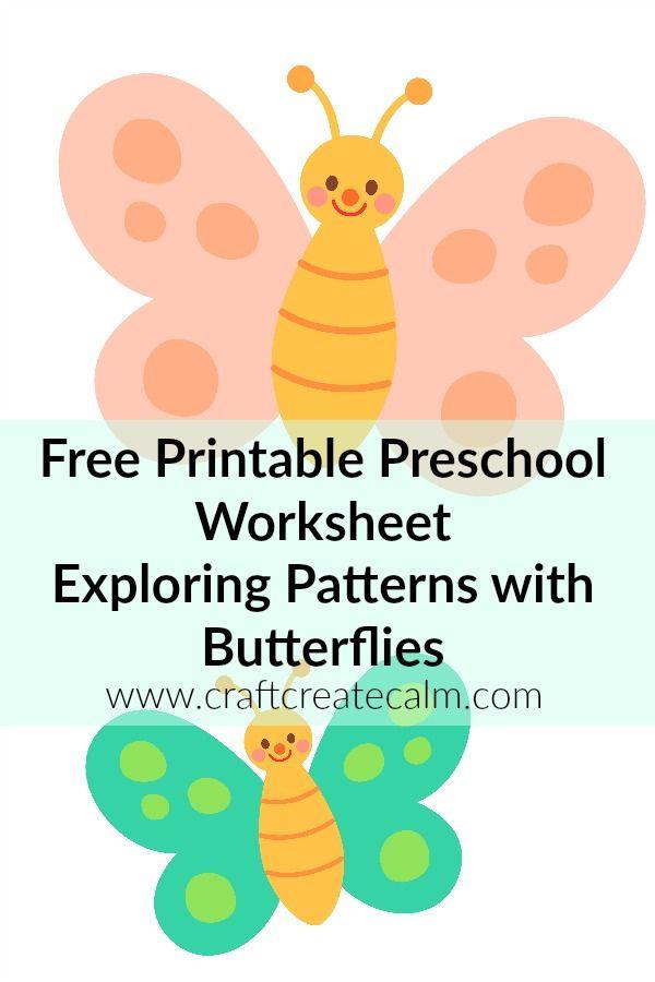 preschool printables free butterfly printables craftcreatecalm - Printable Preschool Crafts