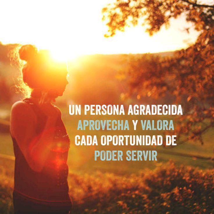 #Gratitud y #servicio