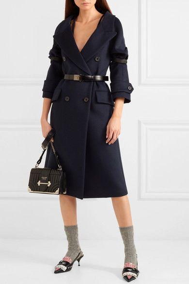 32d25f73aa2fa9 Prada - Studded Fringed Leather Slingback Pumps - Black   FASHION ...